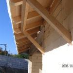 Családi ház hagyományos tető ácsmunkák 3. kép