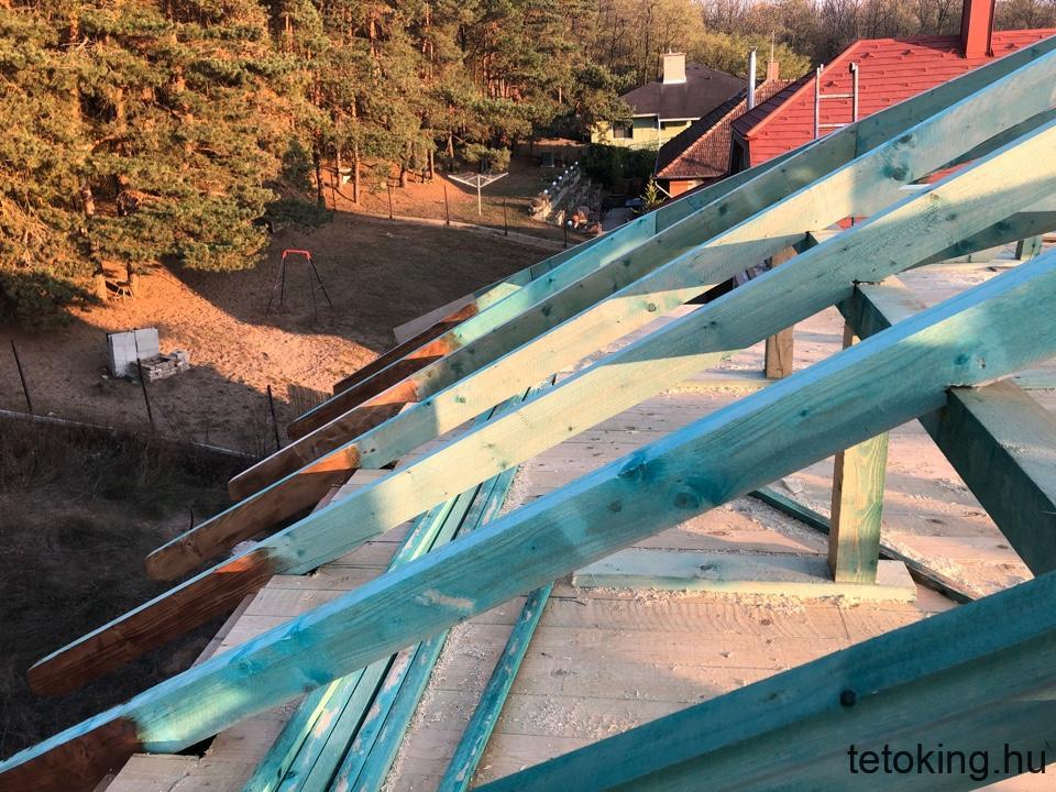 Ácsszerkezet - új tető készítés